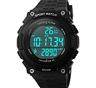 Men's Sport Watch Wrist watch Calendar Water Resistant / Water Proof Alarm Luminous Pedometer Stopwatch Digital Band Black Green