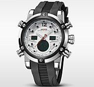 Men's Brand Luxury Analog & Digital Double Time Black Rubber Quartz Watch Cool Watch Unique Watch