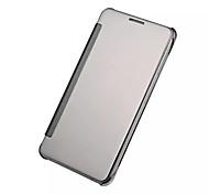 Para Samsung Galaxy Capinhas Cromado / Espelho / Flip Capinha Corpo Inteiro Capinha Cor Única PC SamsungA9(2016) / A7(2016) / A5(2016) /