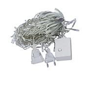 JIAWEN® 3M 4W 100-LED 8-Mode Warm White /  Pink Light Decoration String Lights (EU Plug , AC 220V)