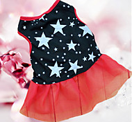 Cat / Dog Dress / Clothes/Clothing Black Summer Stars Wedding / Cosplay