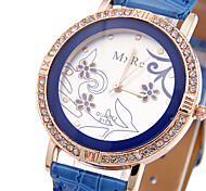Woman's Fashion Flower Watch Cool Watches Unique Watches Strap Watch