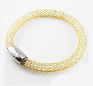 Mesh Rope Stainless Steel Magnetic Clasp Bracelets