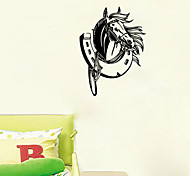 Animals Wall Decal  Horse Shoe Shapes Wall Paper / Fantasy Wall Stickers Plane Wall Stickers,VINYL 58*43cm