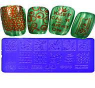 1pcs  Stamping Plates Nail Art Templates DIY Image Nail Art Tools XY-L06-10
