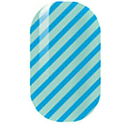 bleu creux ongles autocollants