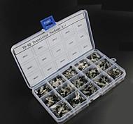 750pcs 15kindsx50pcs to-92 kit transistor + caixa de varejo (A1015, C945, c1815, s8050, s9012,2n2222 ...)