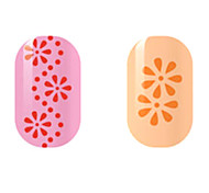 Red/Orange Flower Hollow Nail Stickers