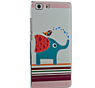 3D Relief Graphic Pattern Fashion PC Material Back Cover for OPPO R5