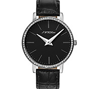 SINOBI® Women's Fashion Diamond Watch Casual Leather Clock Female Quartz Ladies Casual Wristwatches Cool Watches Unique Watches