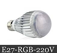 15W E26/E27 LED Kugelbirnen 3 72 lm RGB Ferngesteuert AC 220-240 V 1 Stück