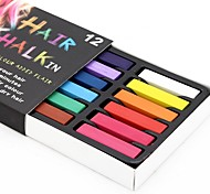 Temporary 24 Color Chalk Crayons for Hair Non-toxic Hair Dye Pastels Stick DIY Styling Tools