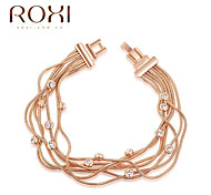 18k Gold Crystal Bracelet Bangle Jewelry for Lady