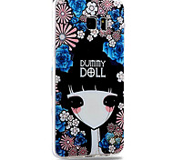For Samsung Galaxy Case Pattern Case Back Cover Case Sexy Lady PC Samsung S6 edge