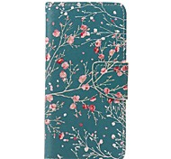 Almond Tree Painted PU Phone Case for Huawei P9/P9lite