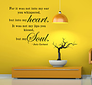 Words & Quotes Wall Stickers Romance Wall Stickers for Home Decor