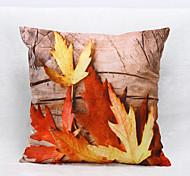 3D Maple Leaf Pattern Velvet Pillowcase Sofa Home Decor Cushion Cover (18*18inch)