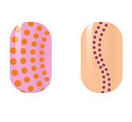 Orange/Purple Spots Hollow Nail Stickers