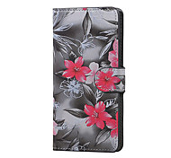 Red Flower Magnetic PU Leather wallet Flip Stand Case cover for LG K5 X220