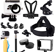 Accessori GoPro Accessori Kit Tutto in uno, Per-Action cam,Xiaomi Camera / GoPro Hero 5Universali / Bicicletta / Surf / Arrampicata /