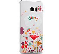 Para Samsung Galaxy Note Diseños Funda Cubierta Trasera Funda Flor TPU Samsung Note 5