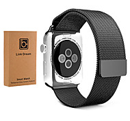 38mm 42mm Fully Magnetic Closure Clasp Mesh Milanese Bracelet Metal Band with Screen Protector for Apple Watch iWatch