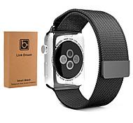 38mm 42mm voll Magnetverschluss Verschluss milanese Armband Metallband mit Displayschutzfolie für Apfel Uhr iwatch Netz