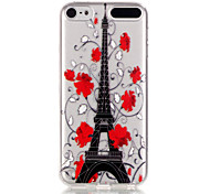 Flower tower Pattern TPU Relief Back Cover Case for iPod Touch 5/Touch 6