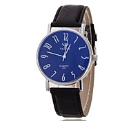 Unisex Wrist Watch Silver Ring Blue Plate Digital Quartz Watches Belt(Assorted Colors)
