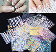50 Sheets 3D Colorful Decal Stickers Nail Art Manicure Tips DIY Decoration