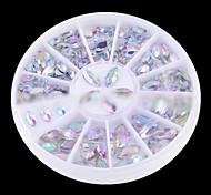 linda abs 3 * 6 milímetros de jóias unha plataforma giratória