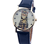 Vintage Watch Cat Leather Watch Womens Watch Ladies Watch Mens Watch Unisex Watch