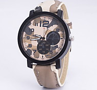 Ladies Fashionable Leisure Camouflage Army Watch Leather Band Cool Watches Unique Watches