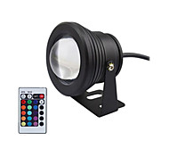 Black 10W Waterproof Outdoor RGB Light LED Underwater Light + 24Key Remote Control (AC85-265V)