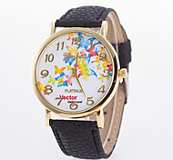 Women's Fashion Watch Quartz Leather Band Butterfly Black White Blue Red Brown Pink Yellow Rose Strap Watch