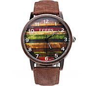 FEIFAN Watch relojes mujer 2016 men watch color Wood Watch canvas Waterproof quartz watch montre homme Cool Watch Unique Watch