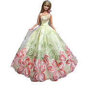 Princess Dresses For Barbie Doll Black / Pink Dresses For Girl's Doll Toy