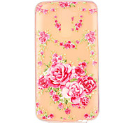 Pink Rose Pattern Embossed TPU Case for LG K7/ K10