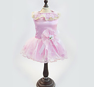 Dress for Dogs / Cats White / Pink Summer / Spring/Fall Fashion XS / S / M / L / XL Mixed Material-Lovoyager