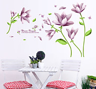 Wall Stickers Wall Decals, Beautiful Flowers Words PVC Wall Sticker