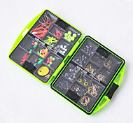 11*10cm Fishing Accessories Box Rock Fishing Tackle Box Swivel Jig Hook Sinker Floating Beads Fishing Tools Set 1 PC