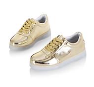 Schuhe für Jungen im Freien / sportlich / casual Leder Mode Turnschuhe schwarz / weiß / silber led / gold