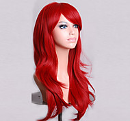 Fashion Color Cartoon Colored Wigs Special Masquerade 70 CM Red Wig