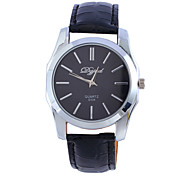 Men's Watch Quartz Fashion Watch PU Band Wrist watch Cool Watch Unique Watch