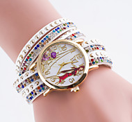 Women's European Style Rivet New Fashion Rhinestone Modern Girl Wrapped Bracelet Watch Cool Watches Unique Watches