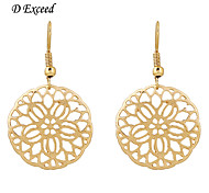 Earring Hoop Earrings Jewelry Women Gold 2pcs Gold