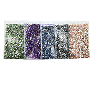 Lovely Acrylic 1.5mm Round  Nail Jewelry (10000PCS)