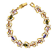 High Quality Vintage Crown Crystal Cubic Zirconia Bracelet 18k Gold Plated Luxury Jewelry Women Jewelry Gifts B40172