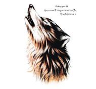 RC-Tatoeagestickers-Waterproof-Dieren Series- voorDames / Heren / Volwassene-Meerkleurig-PVC-1pcs- stuks15*10.5cm-Wolf