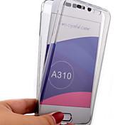 concha transparente alrededor de 360 toda la caja del teléfono de TPU para Samsung incluido a7 (2016) / A5 (2016) / A3 (2016) (colores